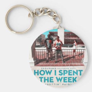 How I Spent the Week (Gettin' Paid) Cover Basic Round Button Keychain
