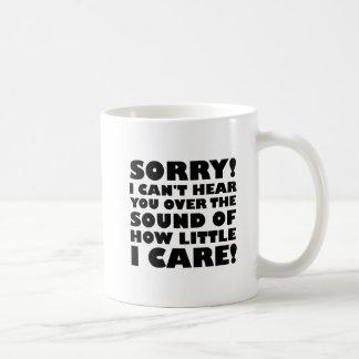 How Little I Care Funny Mug