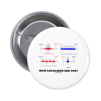 How Localized Are You? (Wave Packet Localization) 2 Inch Round Button