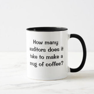 How Many Auditors? - Short Funny Auditing Joke Mug