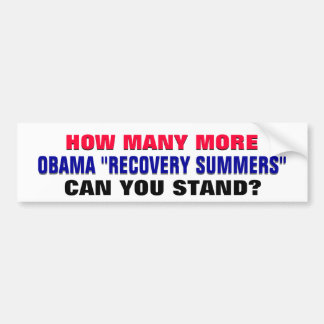 How Many Obama Recovery Summers Can You Stand? Bumper Sticker