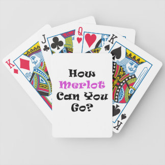 How Merlot Can You Go Bicycle Playing Cards
