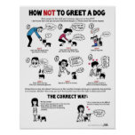 """How Not To Greet A Dog (11"""" x 14"""") Kid-Friendly Poster"""