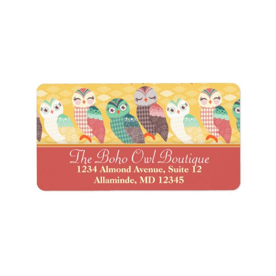 How Now Little Owls? Custom Address Labels