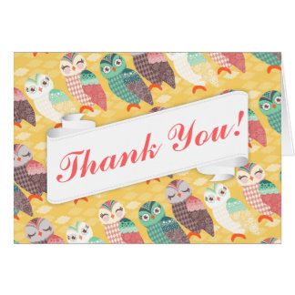 How Now Little Owls? Custom Thank You Card