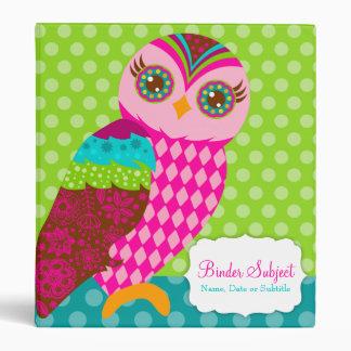 How Now Pink Owl? Binders