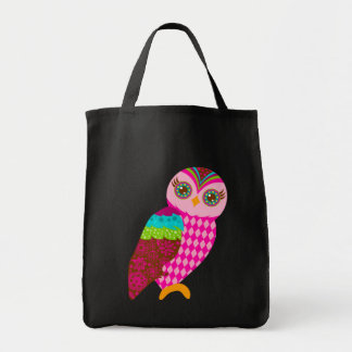 How Now Pink Owl Tote Bag