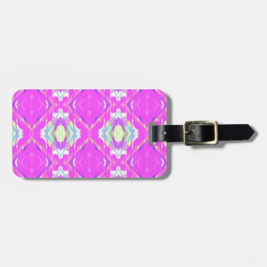 How Pink Girly Pattern Bag Tag