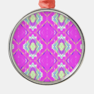 How Pink Girly Pattern Silver-Colored Round Ornament
