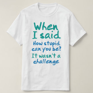 How Stupid Can You Be T-Shirt