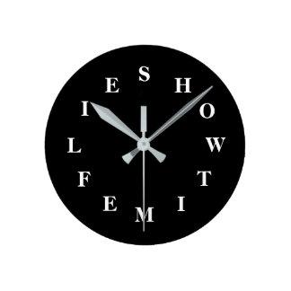 How Time Flies Black Medium Wall Clock by Janz