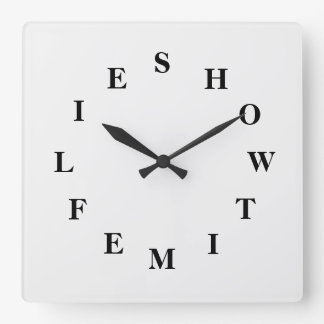 How Time Flies White Smoke Wall Clock by Janz
