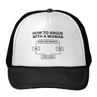 How To Argue With A Woman Trucker Hat