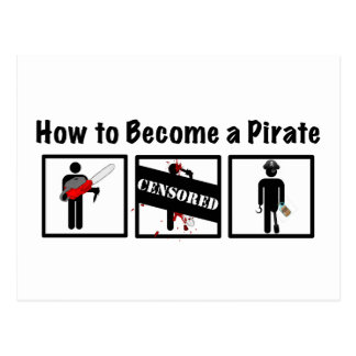 How to Become a Pirate Postcard
