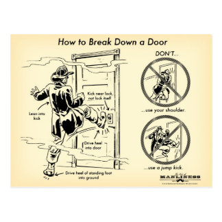How to Break Down a Door Postcard