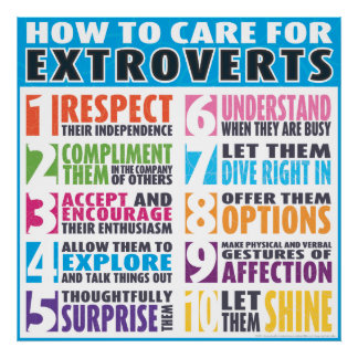 How To Care For Extroverts Poster