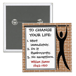 How to Change Your Life 2 Inch Square Button