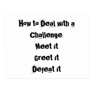 How to Deal with a Challenge Motivational Postcard