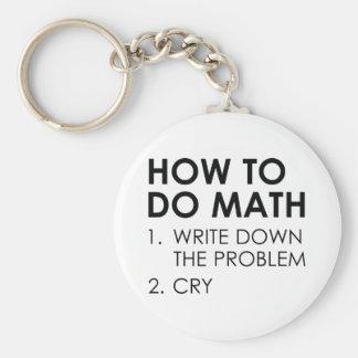 How To Do Math Basic Round Button Keychain