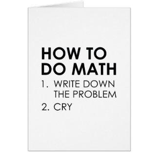 How To Do Math Card