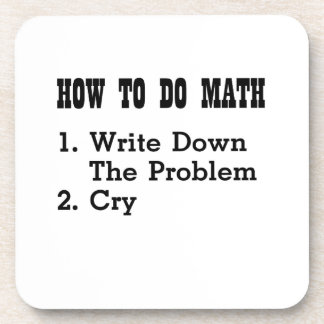 How To Do Math Funny T Shirts Coaster