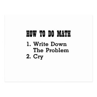 How To Do Math Funny T Shirts Postcard