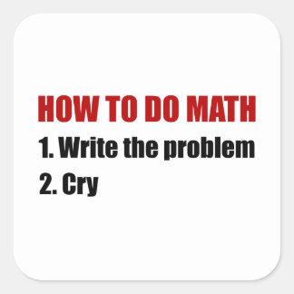 How To Do Math Square Sticker