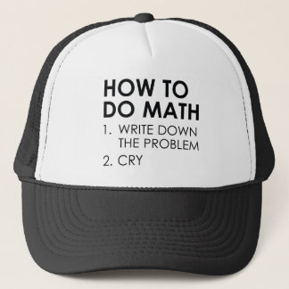 How To Do Math Trucker Hat