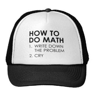 How To Do Math Trucker Hat