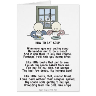 How to Eat Soup - The Goops Card