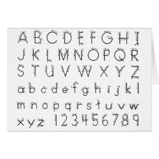 How to form your letters - Alphabet handwriting Card