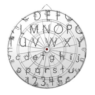 How to form your letters - Alphabet handwriting Dartboard