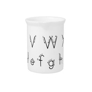 How to form your letters - Alphabet handwriting Drink Pitcher