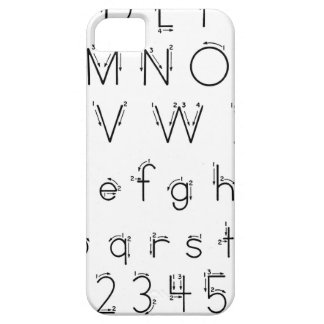 How to form your letters - Alphabet handwriting iPhone 5 Case