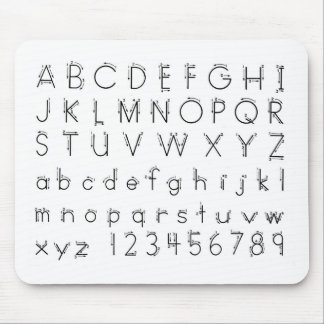 How to form your letters - Alphabet handwriting Mouse Pad