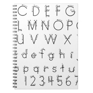How to form your letters - Alphabet handwriting Notebook