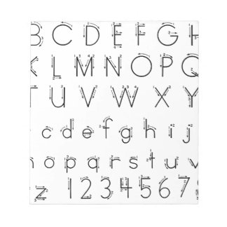 How to form your letters - Alphabet handwriting Notepad