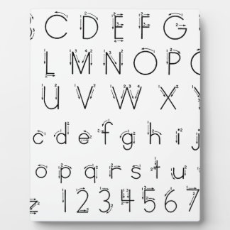 How to form your letters - Alphabet handwriting Photo Plaques