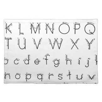 How to form your letters - Alphabet handwriting Placemat