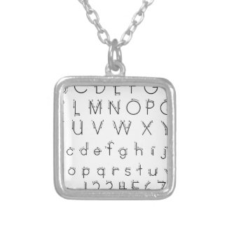 How to form your letters - Alphabet handwriting Silver Plated Necklace