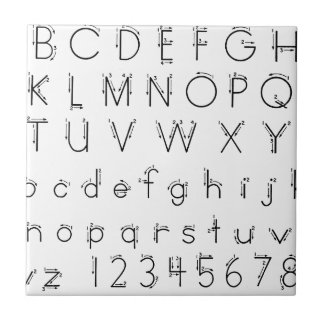 How to form your letters - Alphabet handwriting Tile