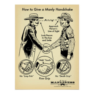 How to Give a Manly Handshake Poster