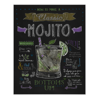 How to Make a Mojito Chalkboard Poster