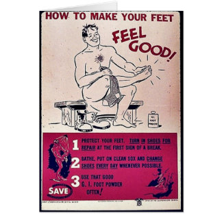 How To Make Your Feet Feel Good Cards