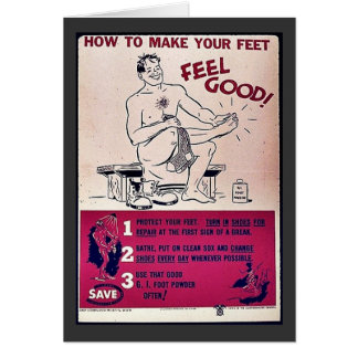 How To Make Your Feet Feel Good! Greeting Card
