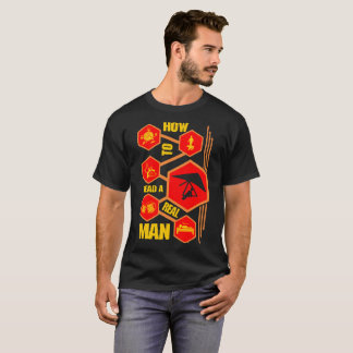 How To Read Real Man Hang Gliding Lifestyle Tshirt