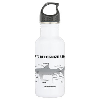 How To Recognize A Shark (Biology Humor) 532 Ml Water Bottle