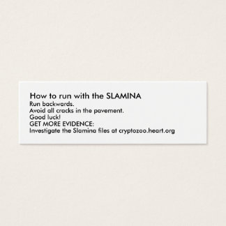 How to run with the SLAMINA Mini Business Card