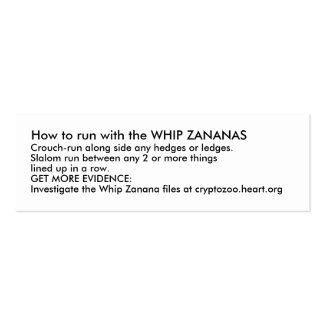 How to run with the WHIP ZANANAS Business Card Template