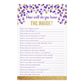 How well do you know the Bride? Game Custom Stationery